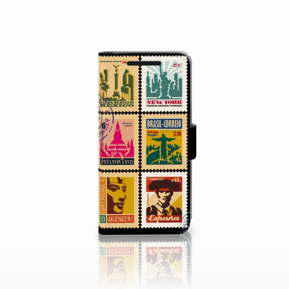 HTC One M9 Uniek Boekhoesje Postzegels
