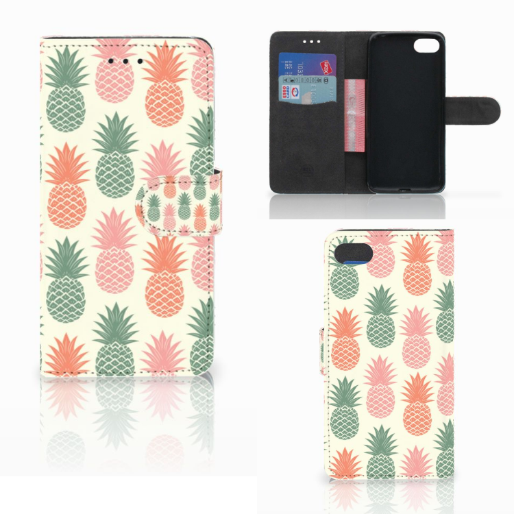 Huawei Y5 2018 Book Cover Ananas