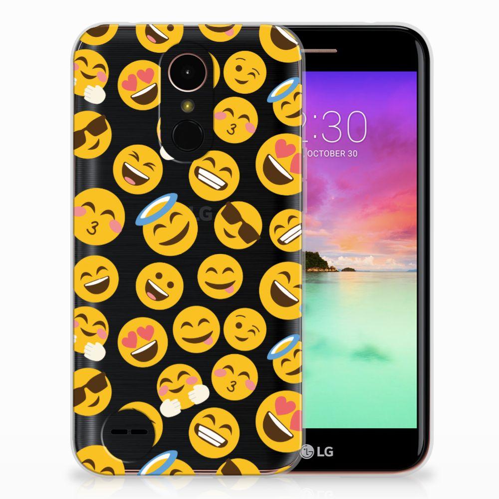 LG K10 2017 TPU Hoesje Design Emoji
