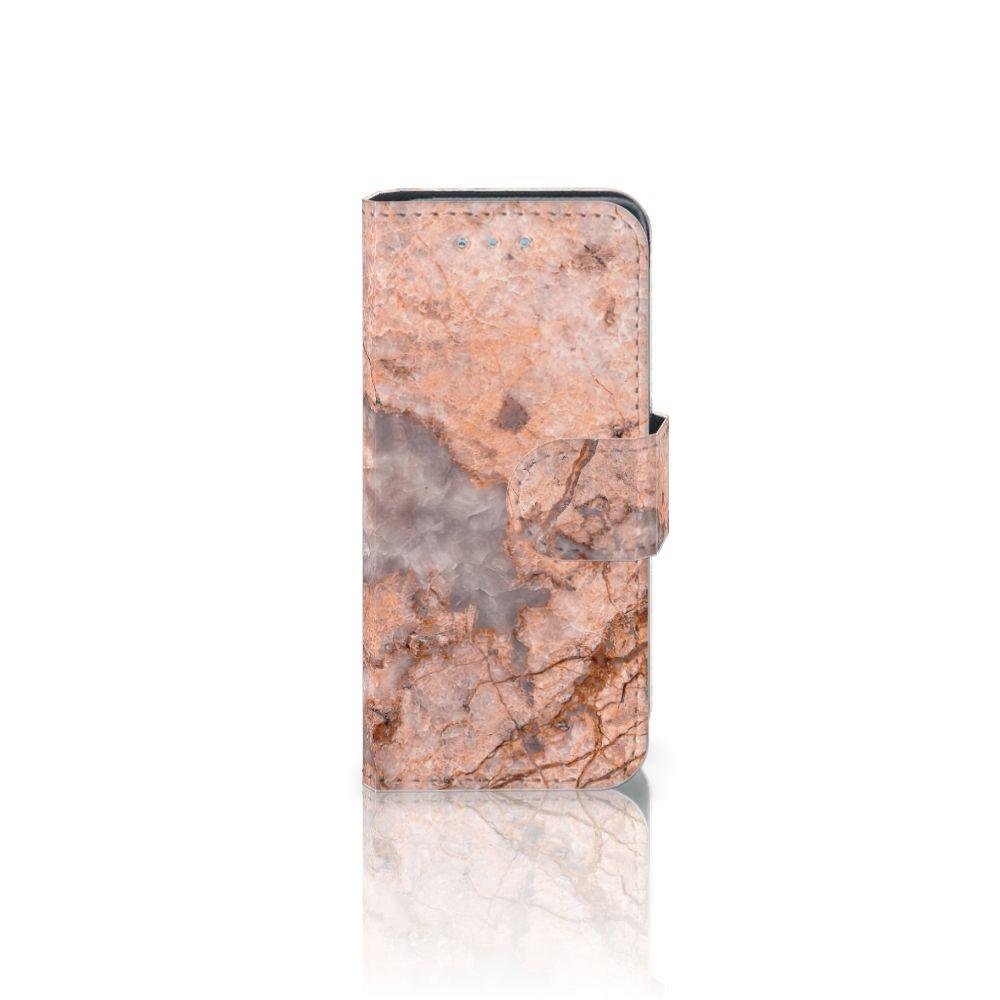 Samsung Galaxy S4 Mini i9190 Boekhoesje Design Marmer Oranje