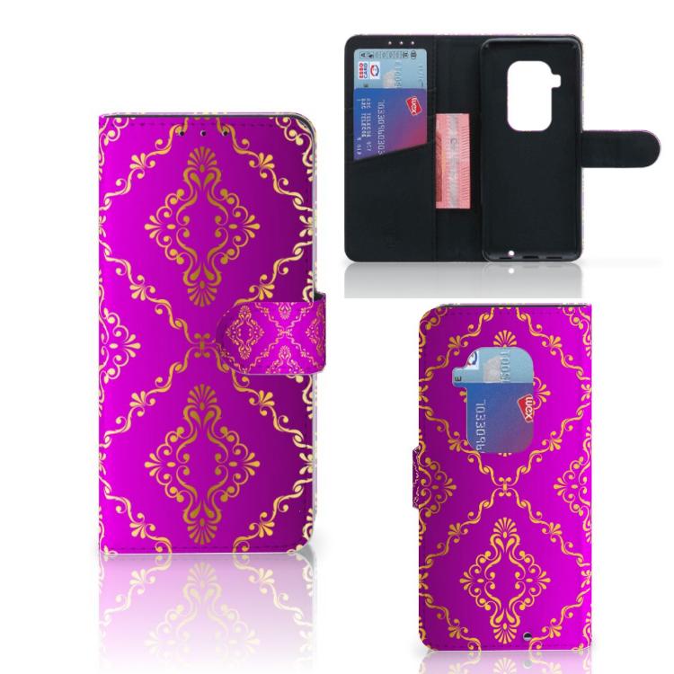 Wallet Case Motorola One Zoom Barok Roze