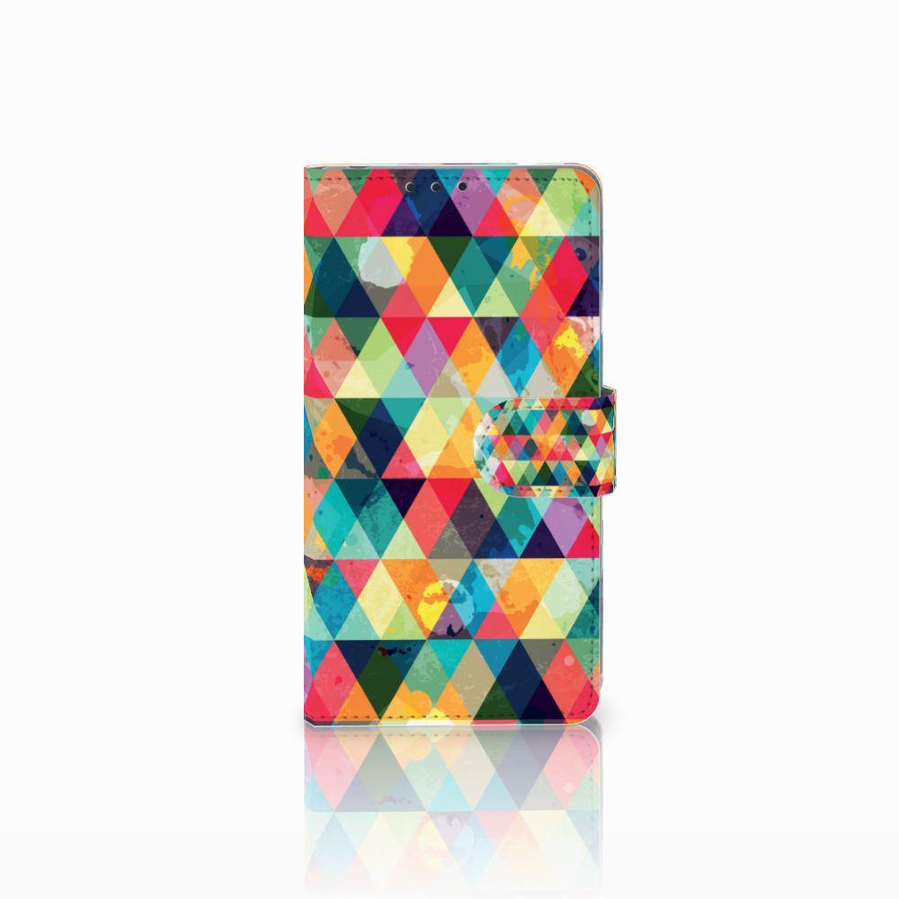 Sony Xperia Z1 Uniek Boekhoesje Geruit