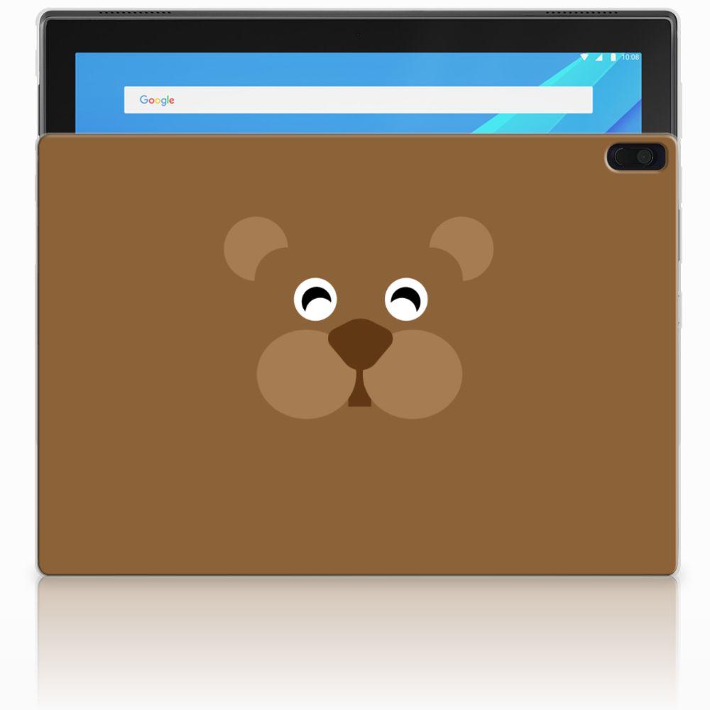 Lenovo Tab 4 10.1 Uniek Tablethoesje Bear Brown