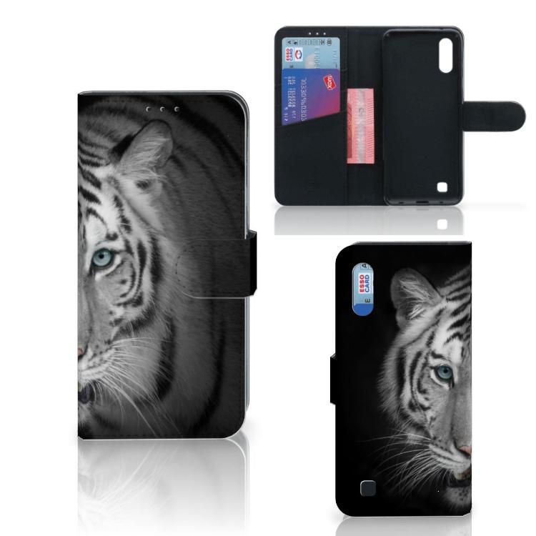 Samsung Galaxy M10 Telefoonhoesje met Pasjes Tijger