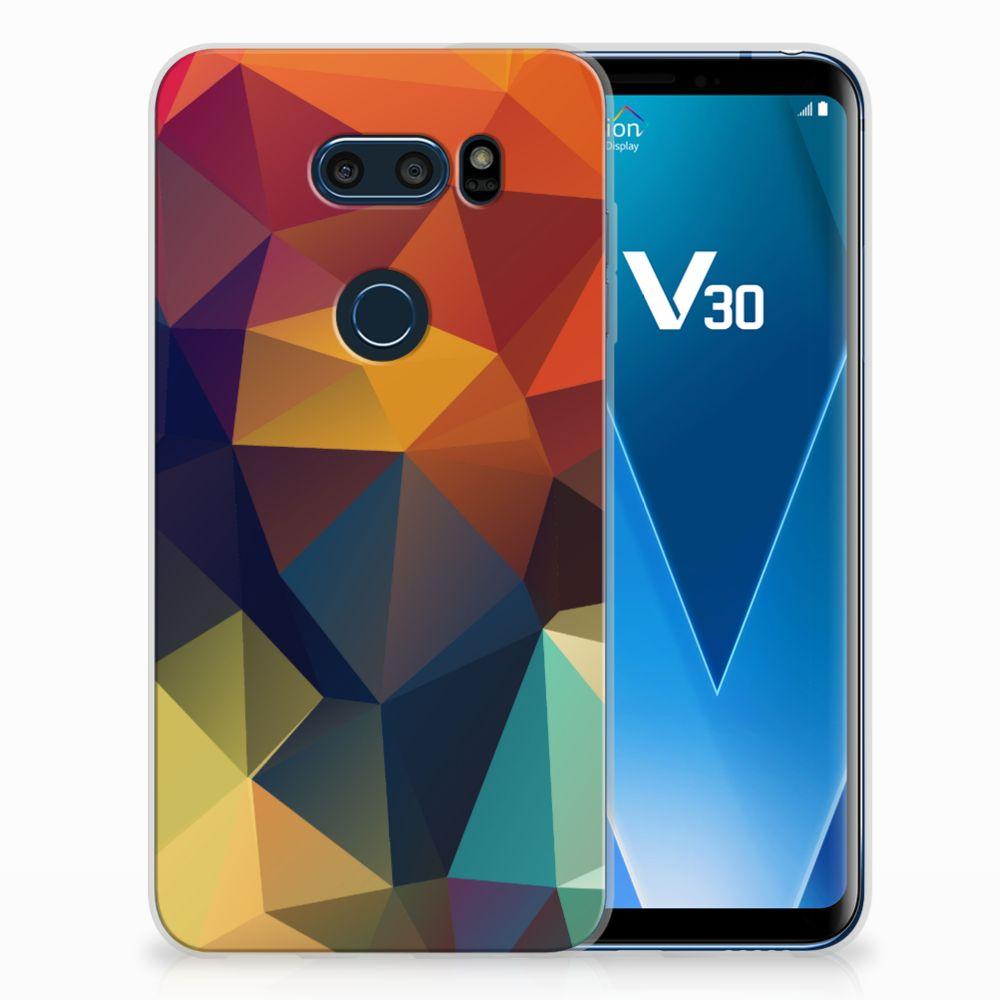 LG V30 TPU Hoesje Design Polygon Color
