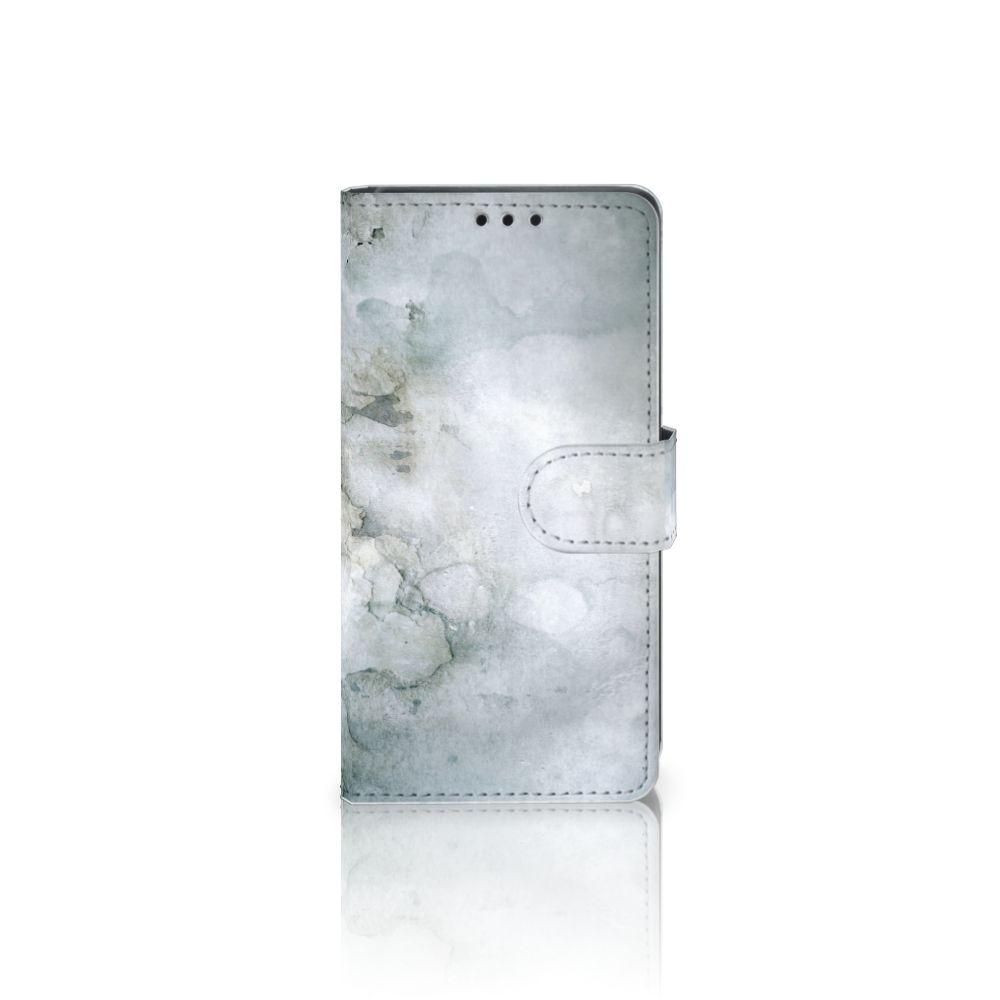 Sony Xperia Z5   Z5 Dual Uniek Boekhoesje Painting Grey