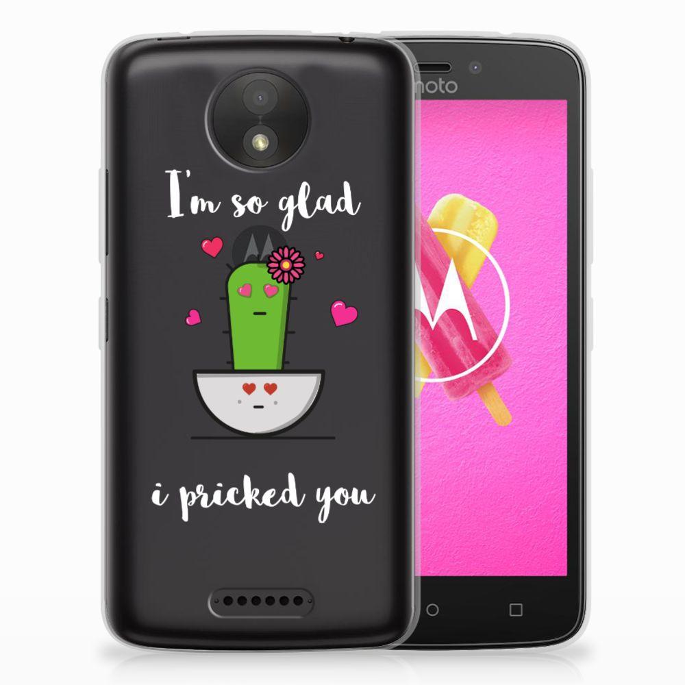 Motorola Moto C Telefoonhoesje met Naam Cactus Glad