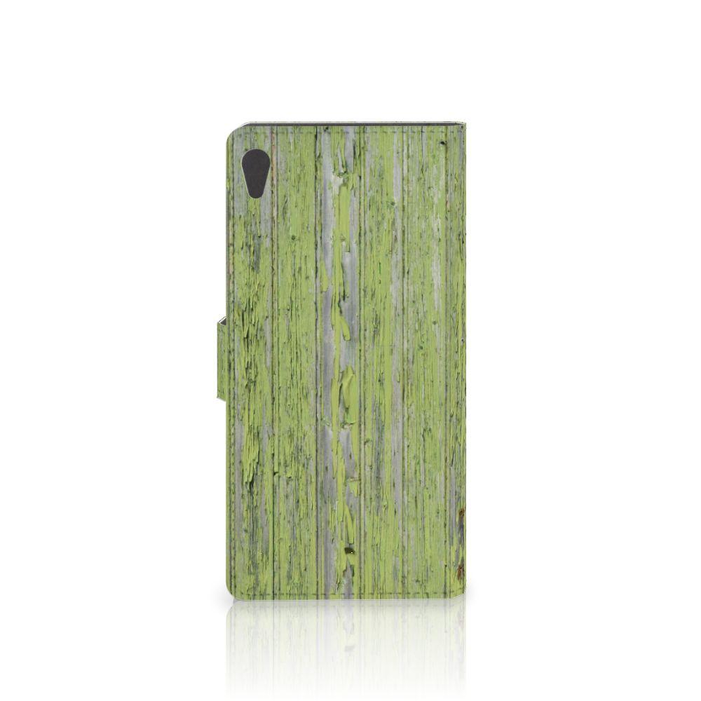 Sony Xperia XA Ultra Book Style Case Green Wood