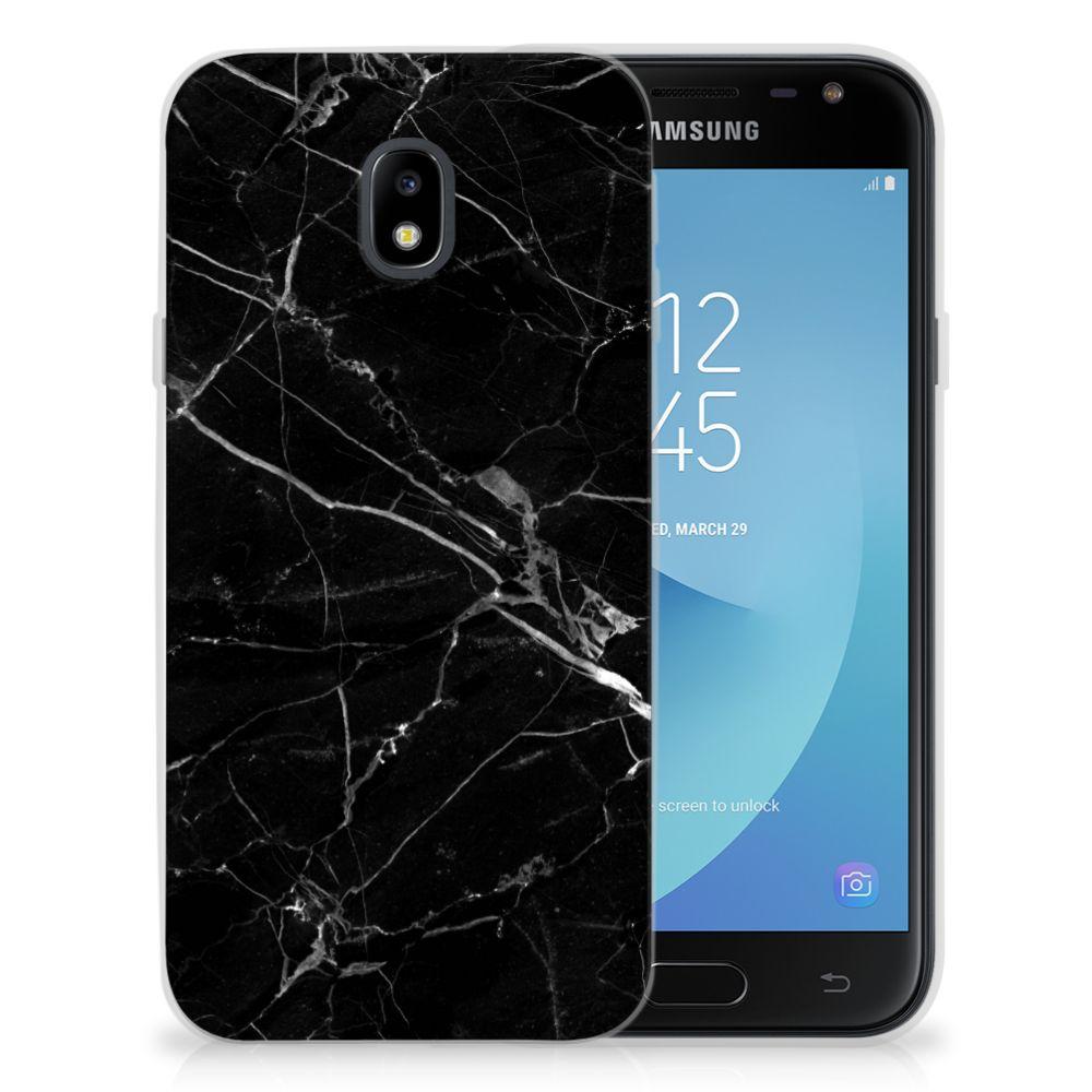 Samsung Galaxy J3 2017 Uniek TPU Hoesje Marmer Zwart