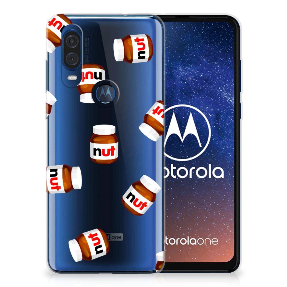 Motorola One Vision Siliconen Case Nut Jar