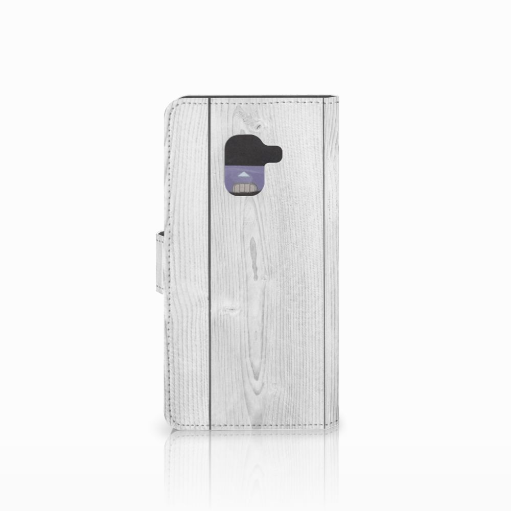 Samsung Galaxy A8 2018 Book Style Case White Wood