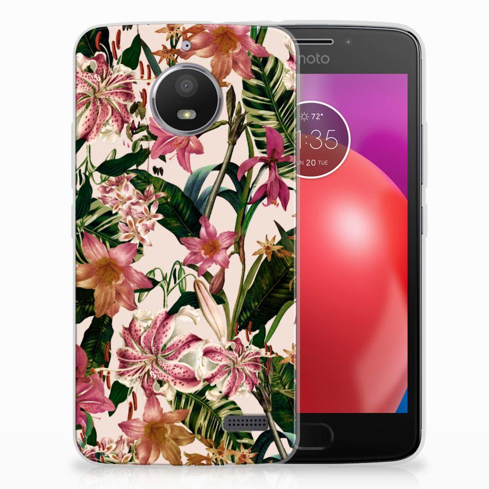 Motorola Moto E4 Uniek TPU Hoesje Flowers