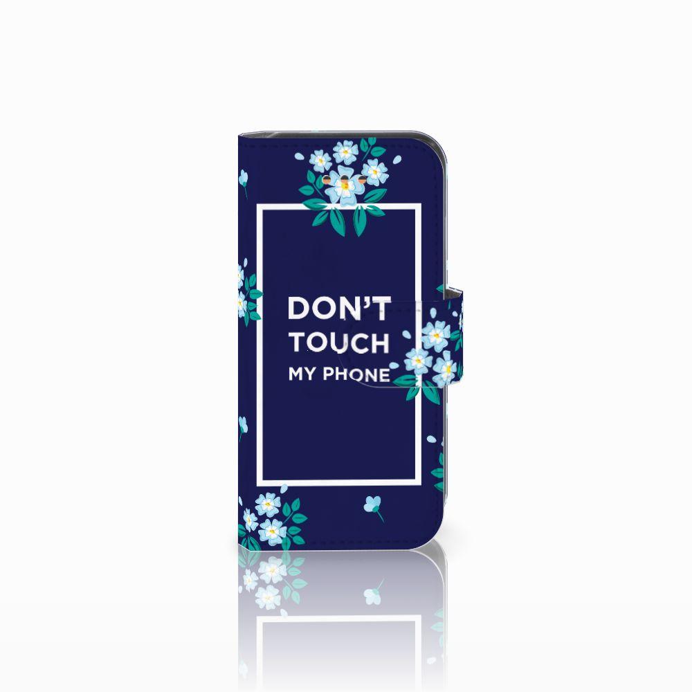 Apple iPhone 5C Boekhoesje Flowers Blue DTMP