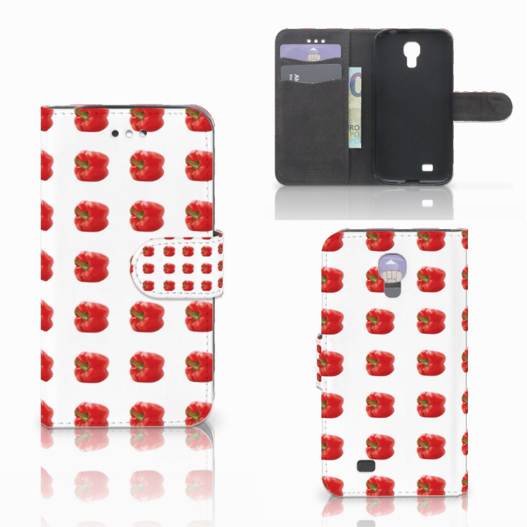 Samsung Galaxy S4 Book Cover Paprika Red