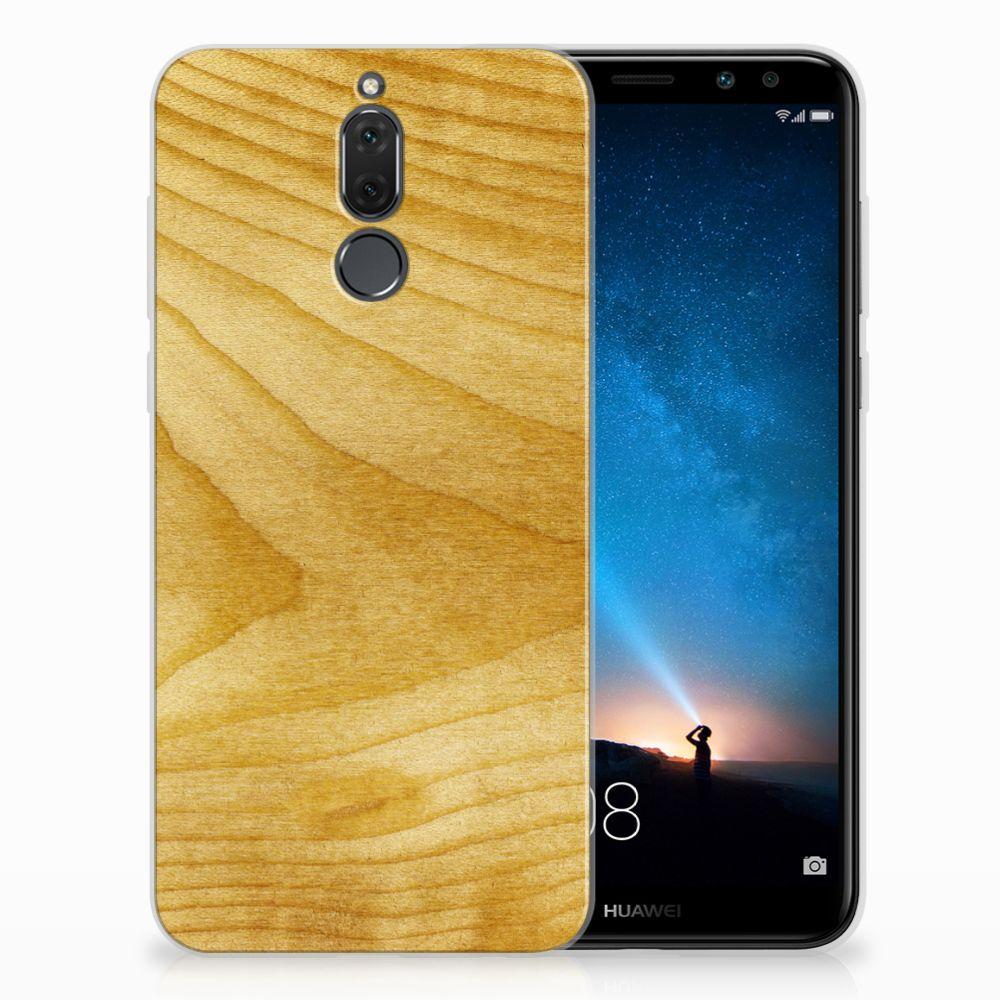 Huawei Mate 10 Lite Uniek TPU Hoesje Licht Hout