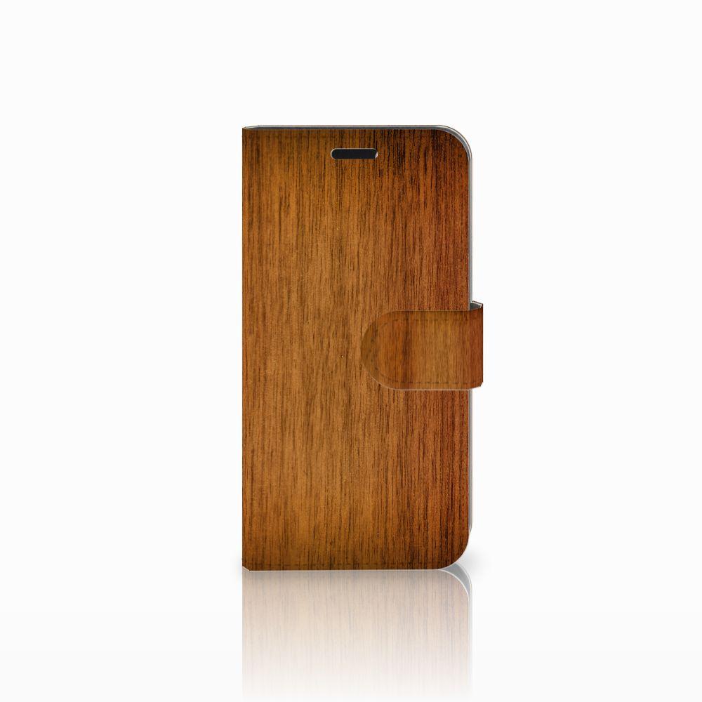 Huawei Nova Uniek Boekhoesje Donker Hout
