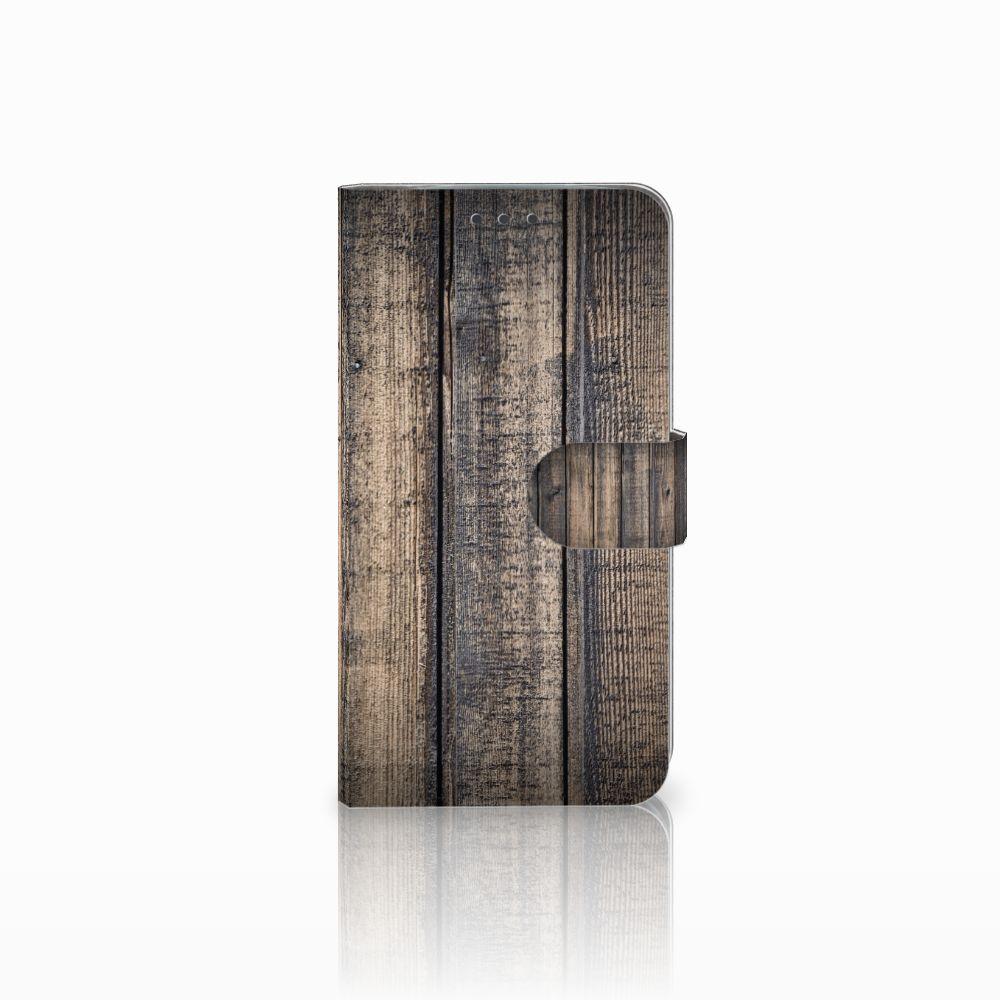 Motorola Moto E4 Plus Boekhoesje Design Steigerhout