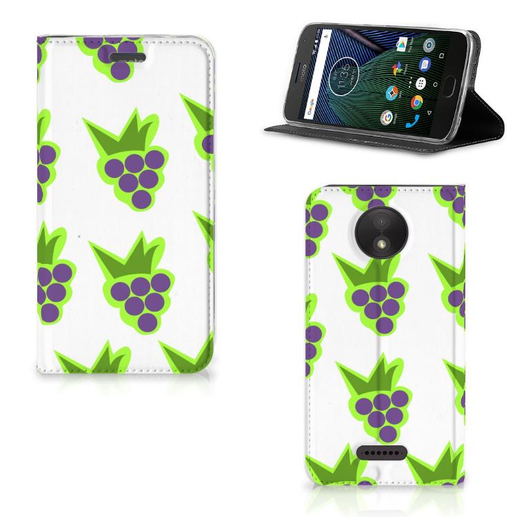 Motorola Moto C Plus Flip Style Cover Druiven