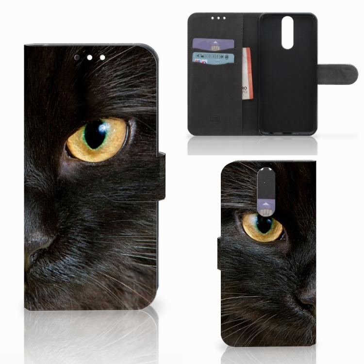 Huawei Mate 10 Lite Telefoonhoesje met Pasjes Zwarte Kat