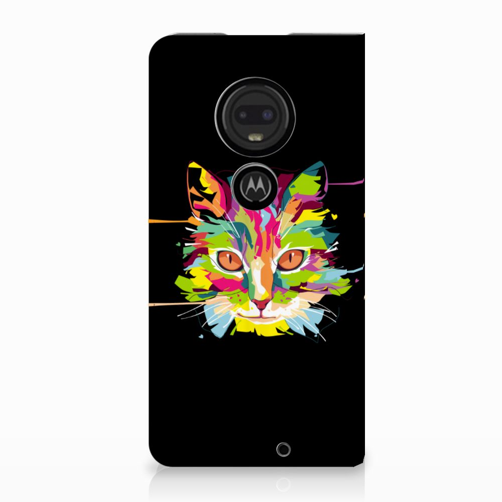 Motorola Moto G7   G7 Plus Uniek Standcase Hoesje Cat Color