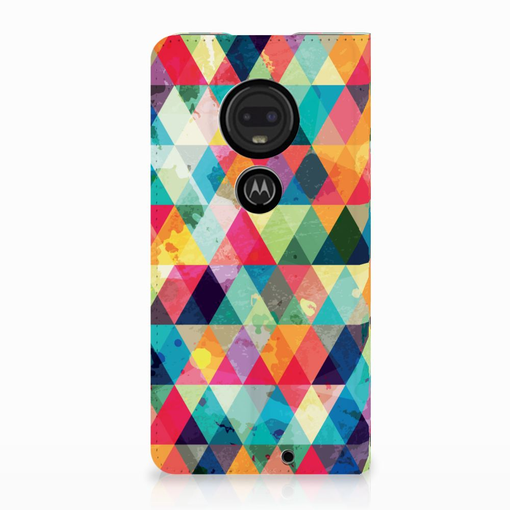 Motorola Moto G7 | G7 Plus Uniek Standcase Hoesje Geruit