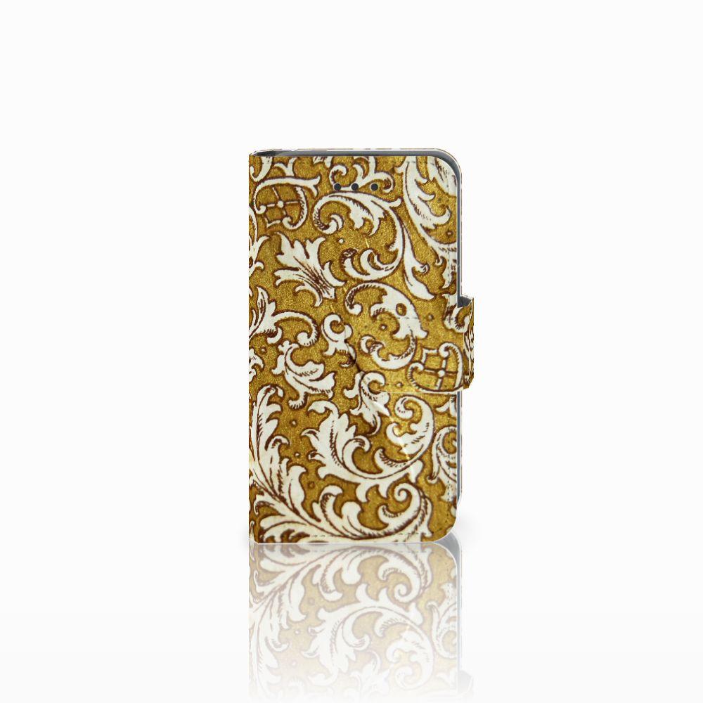 Nokia Lumia 530 Boekhoesje Design Barok Goud