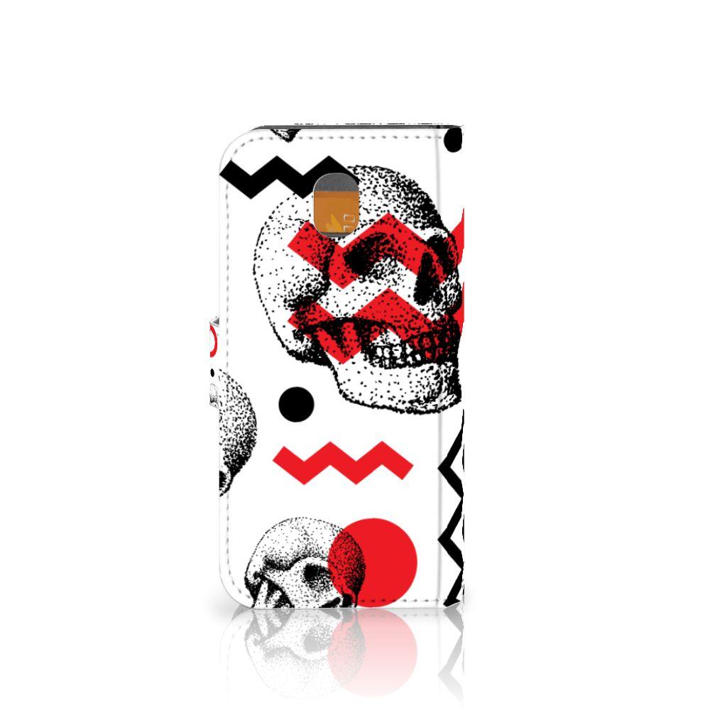 Telefoonhoesje met Naam Samsung Galaxy J5 2017 Skull Red