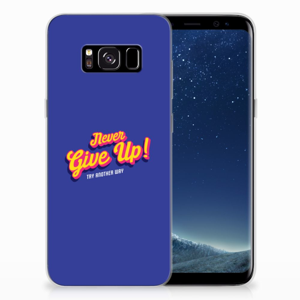 Samsung Galaxy S8 Siliconen hoesje met naam Never Give Up