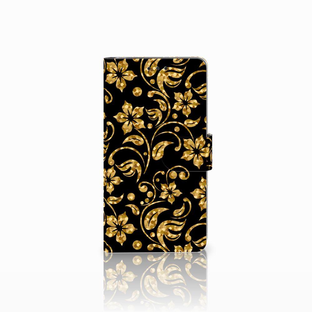 LG G4 Boekhoesje Design Gouden Bloemen