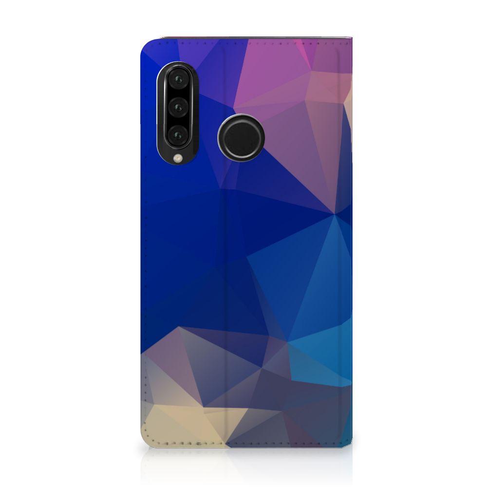 Huawei P30 Lite Stand Case Polygon Dark