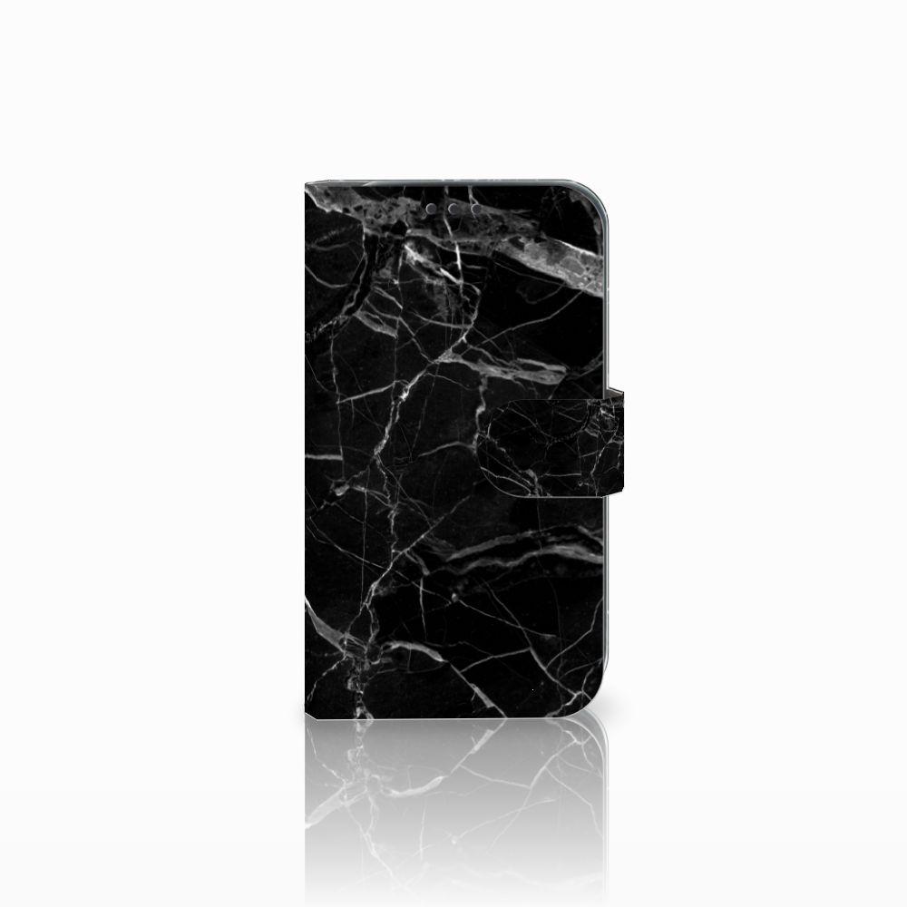 Samsung Galaxy Xcover 4 Uniek Boekhoesje Marmer Zwart