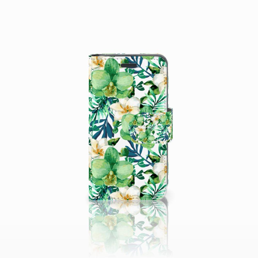 Nokia Lumia 520 Uniek Boekhoesje Orchidee Groen