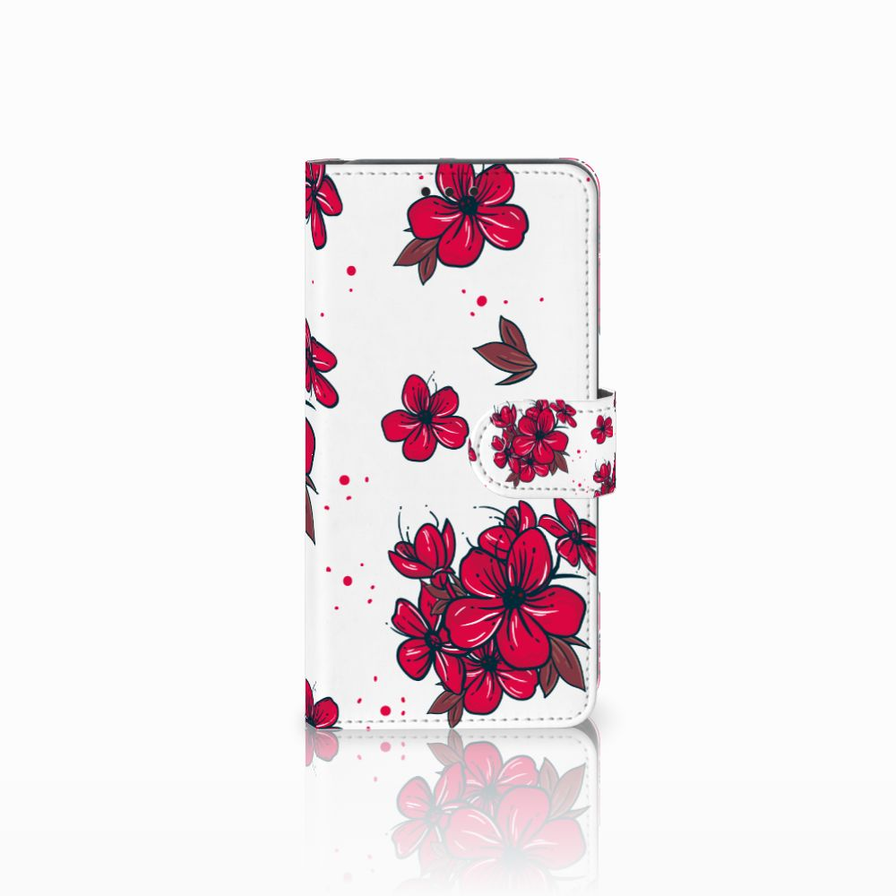 Samsung Galaxy A8 2018 Boekhoesje Design Blossom Red