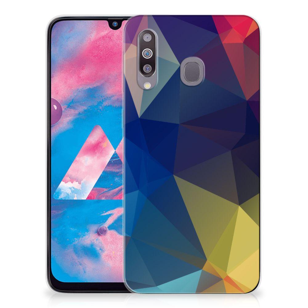 Samsung Galaxy M30 TPU Hoesje Polygon Dark