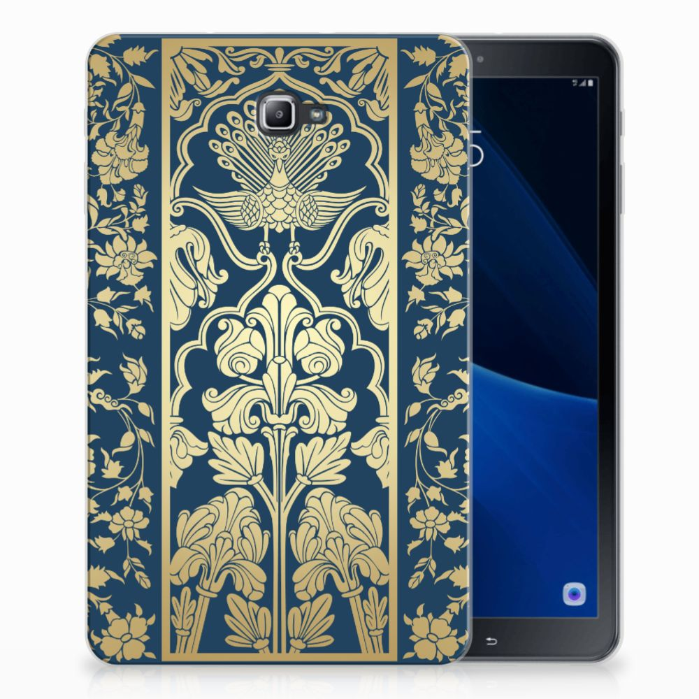 Samsung Galaxy Tab A 10.1 Siliconen Hoesje Golden Flowers
