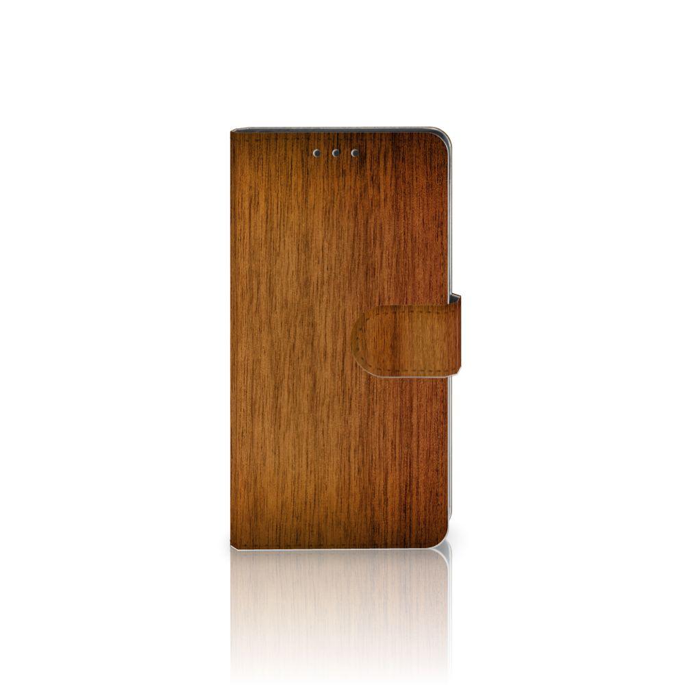 Sony Xperia Z3 Uniek Boekhoesje Donker Hout
