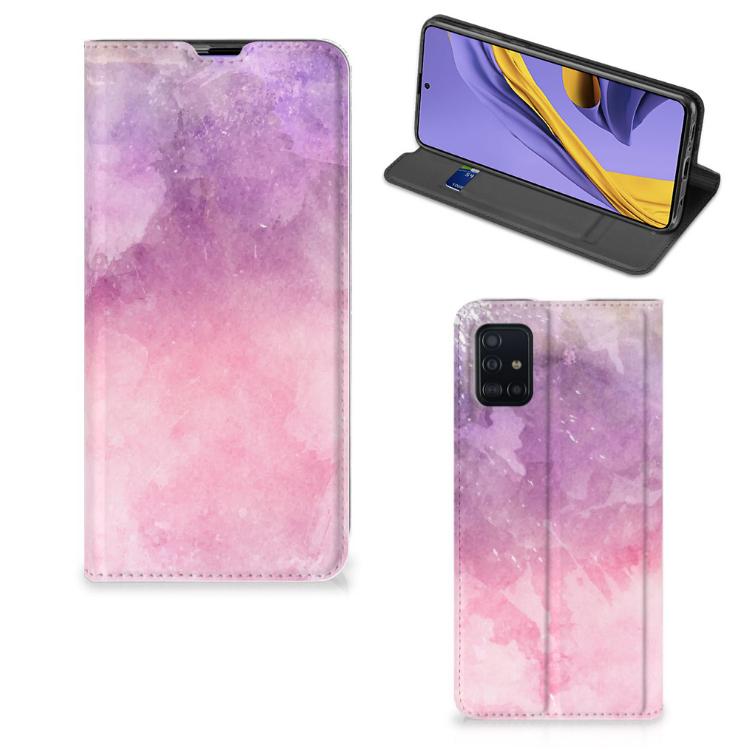 Bookcase Samsung Galaxy A51 Pink Purple Paint