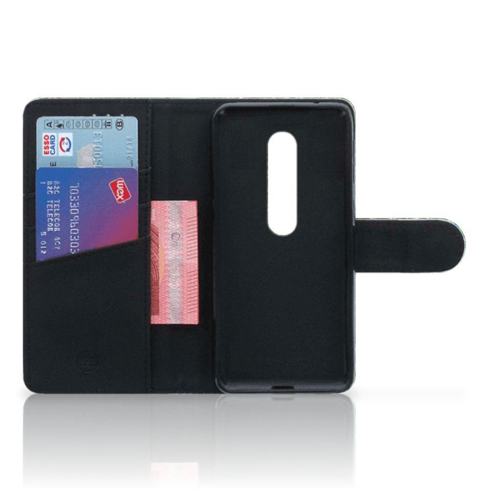 Motorola Moto G 3e Generatie Telefoonhoesje met Pasjes Pauw
