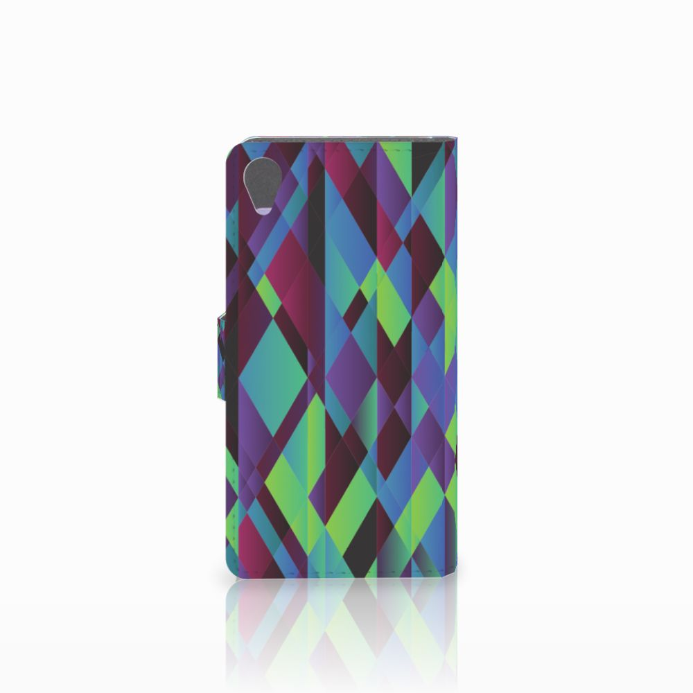 Sony Xperia X Bookcase Abstract Green Blue