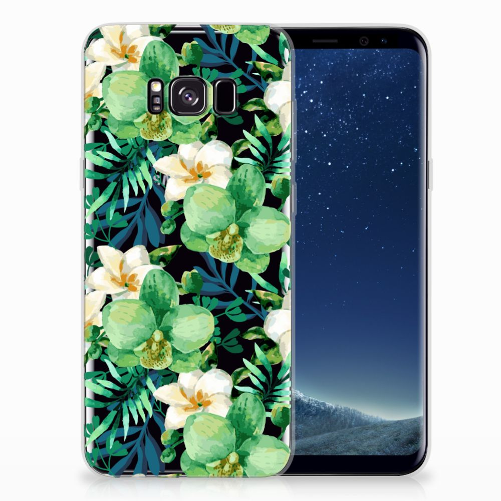 Samsung Galaxy S8 Plus TPU Case Orchidee Groen