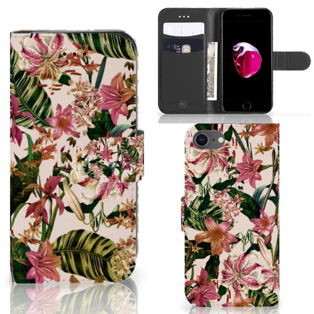 iPhone 7   8   SE (2020) Hoesje Flowers