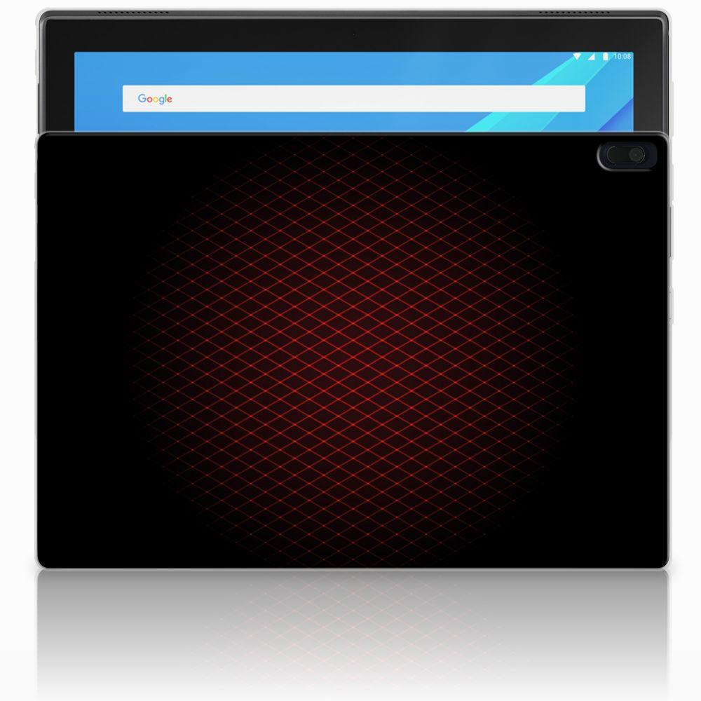 Lenovo Tab 4 10.1 Uniek Tablethoesje Geruit Rood