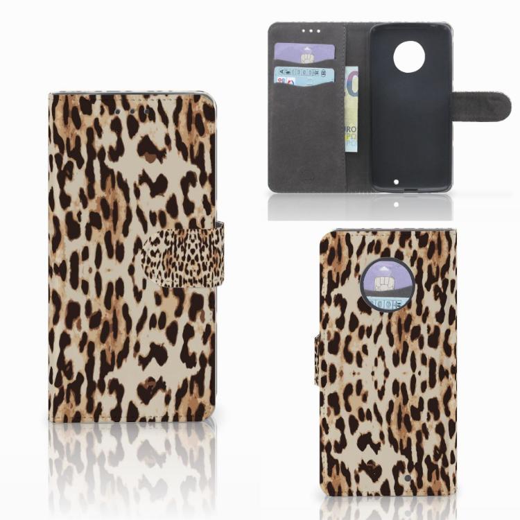 Motorola Moto X4 Telefoonhoesje met Pasjes Leopard