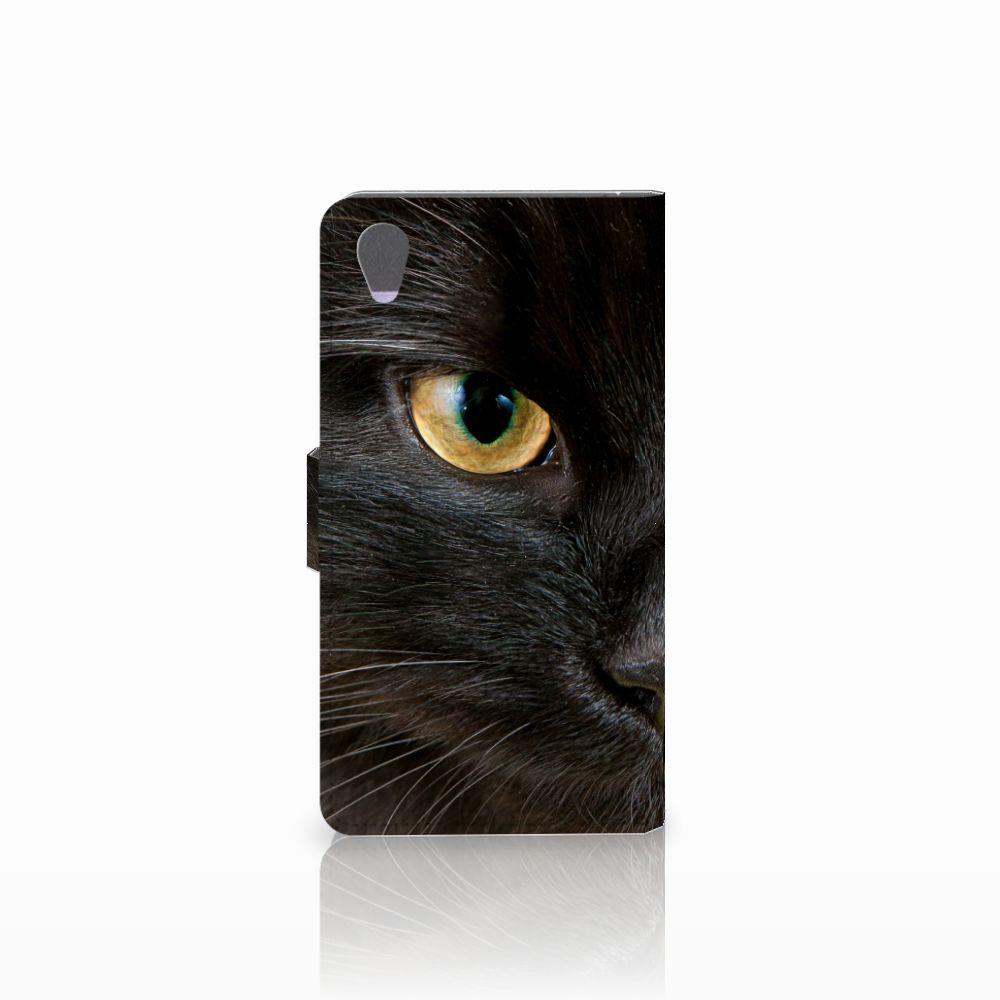 Sony Xperia Z1 Telefoonhoesje met Pasjes Zwarte Kat