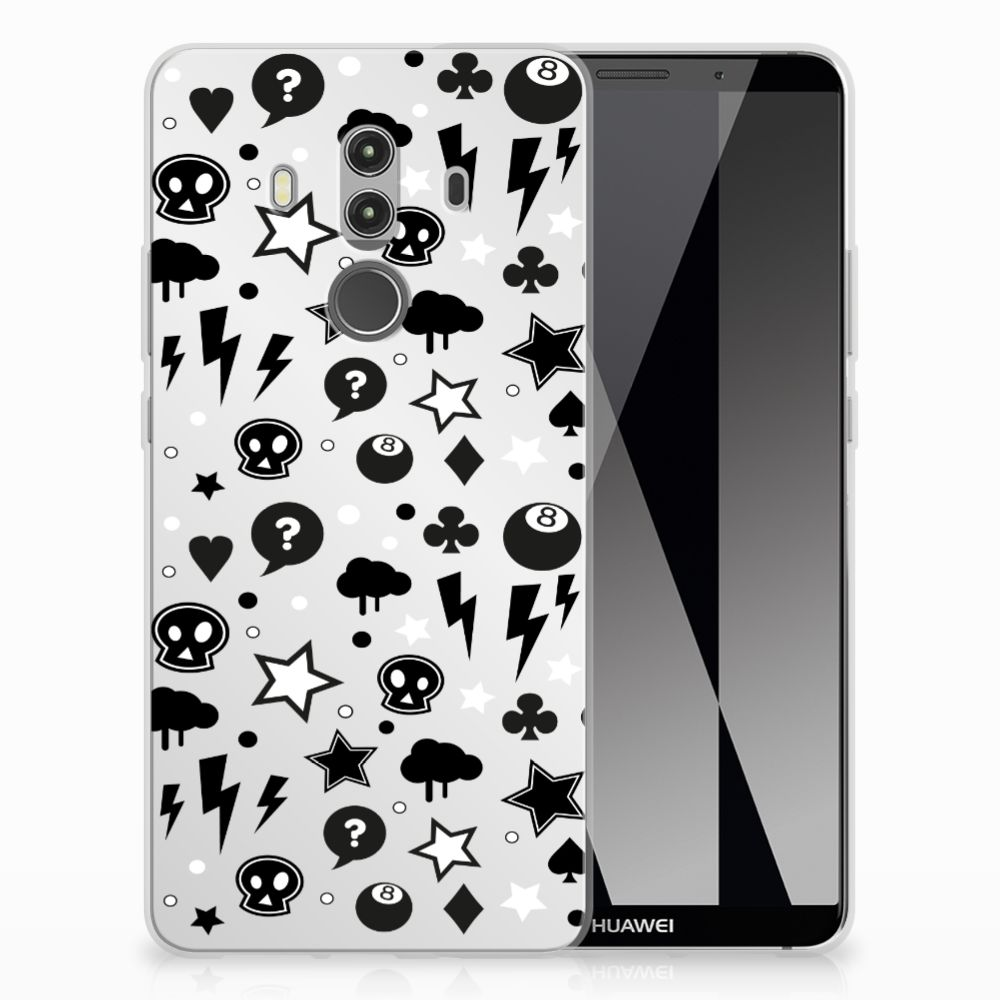 Silicone Back Case Huawei Mate 10 Pro Silver Punk