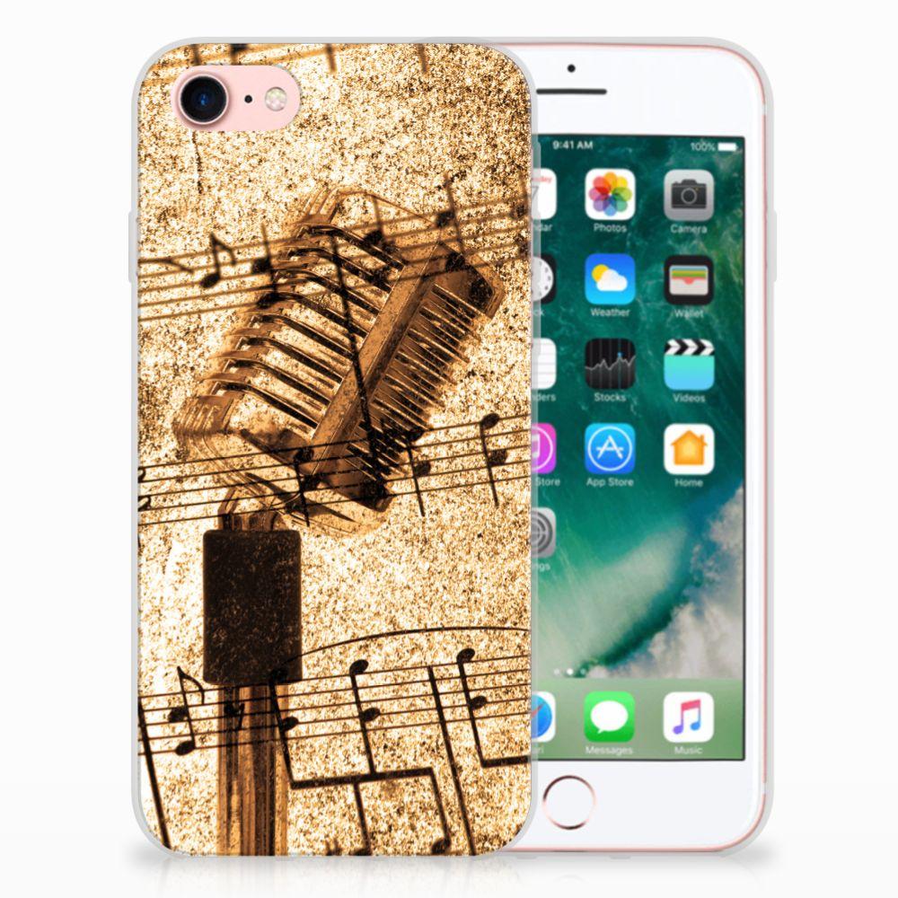Apple iPhone 7   8 Uniek TPU Hoesje Bladmuziek