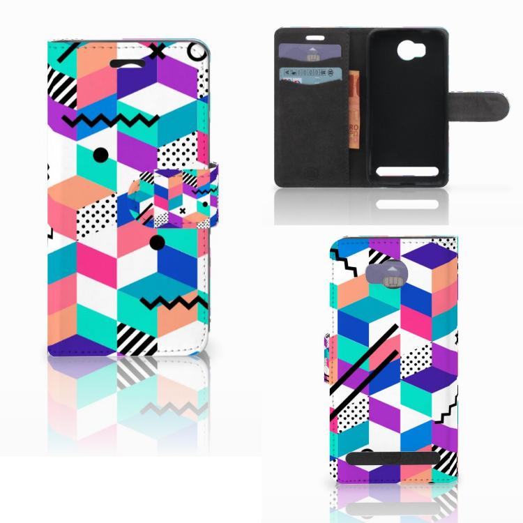 Huawei Y3 2 | Y3 II Bookcase Blokken Kleurrijk