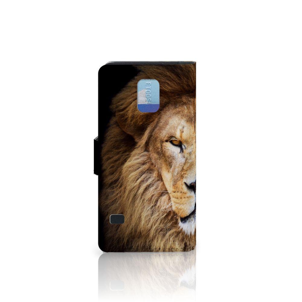 Samsung Galaxy S5   S5 Neo Telefoonhoesje met Pasjes Leeuw