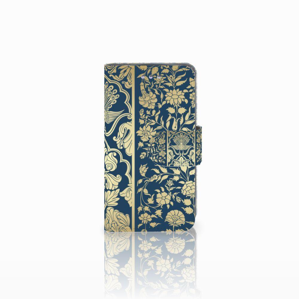 Samsung Galaxy S3 Mini Boekhoesje Golden Flowers