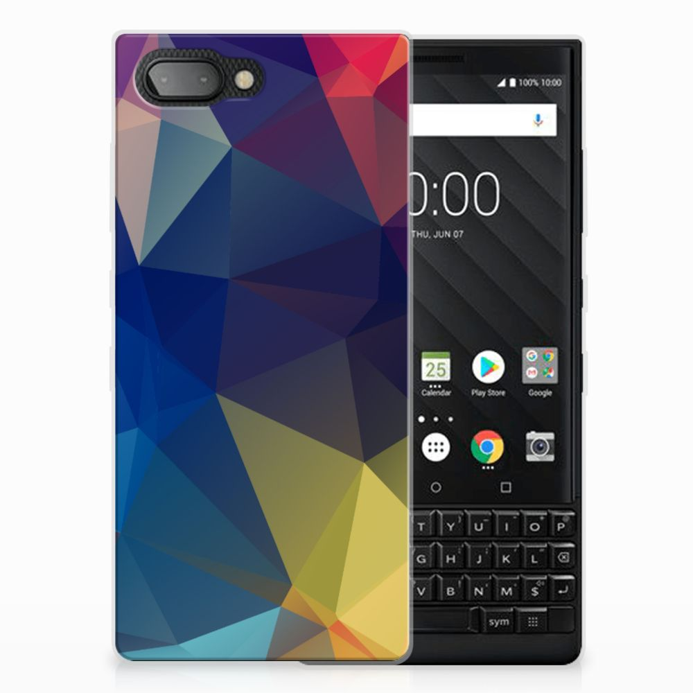 BlackBerry Key2 TPU Hoesje Polygon Dark